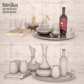 PotteryBarn набор декоративный