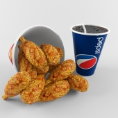 fried chicken and pepsi