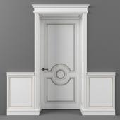 Дверь с тамбуром и настенными панелями
