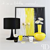 Желто-черный декор
