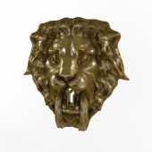 Mask lion with a keyhole