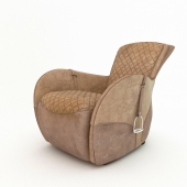 saddle leather armchair