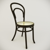 Simple classic wooden chair