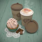 Пирожное и кофе