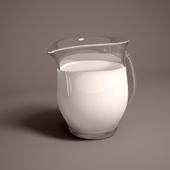 Jug with milk