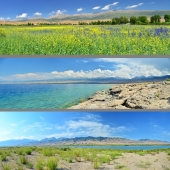 the southern shore of Lake. Issyk-Kul