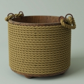 Bucket with ropes