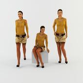 Woman in a miniskirt