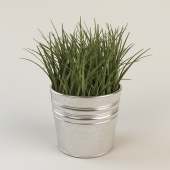 Artificial Potted Plant Wheat Grass