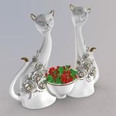 Конфетница-кошки, статуэтка