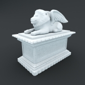 Statue of a lion (griffin)