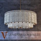 Venini Two Tier Textured Glass Fixture