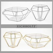 Eichholtz_table coffee asscher gold & nickel