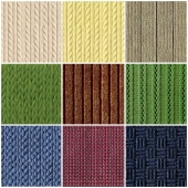 The texture of knitted fabric
