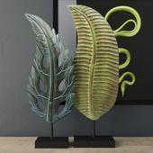 Albesia Wood Leaf Decoration