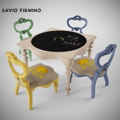 Children's table and chairs Savio Firmino