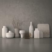 Decorative set of vases