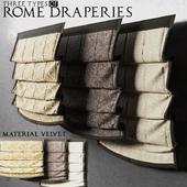 Римские шторы из вельвета
