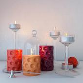 Подсвечники и свечи IKEA