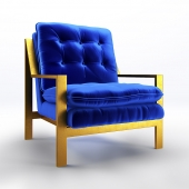 Cameron Gold Leafed Chair
