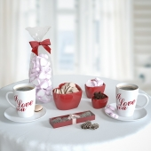 valentine's coffee set