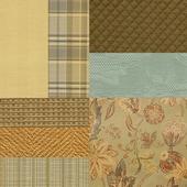 A set of interior fabrics