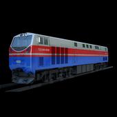 Kazakh railway locomotive