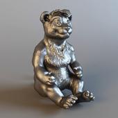 Statuette of a lion cub