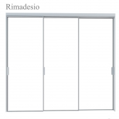 Rimadesio Velaria Sliding Doors, storage system for living areas