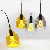 Suspension Plumen, model Vessel lamp shade