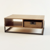 Coffee table made of solid teak Look 90/60