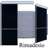 Rimadesio Graphis Single Rail Sliding Doors, for living area doors walk-in-closet