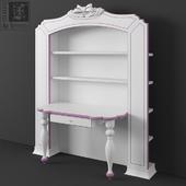 Library with a desk Ferretti e Ferretti