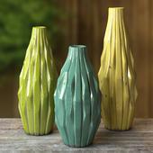 """Vases """"Cactus"""" with craquelure"""