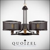 Union Station 3 Light Drum Chandelier by Quoizel