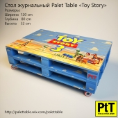 "Palet Table ""Toy Story"""