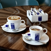 Cup of Lavazza coffee