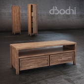 TV Stand made of solid teak Lucy 150