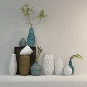 Linework Vases - Honeycomb west elm