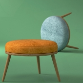 Moonshine footstool by Galvin Brothers