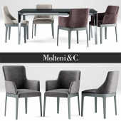 Table and chair Chelsea Chair Molteni &