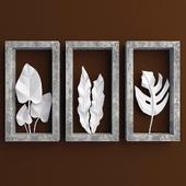 Leaf Shadowbox Sculptures