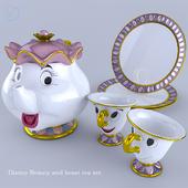Disney Beauty and Beast tea set