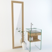 Milo Mobile washbasin and Mirror