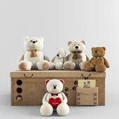 набор игрушек с мишками