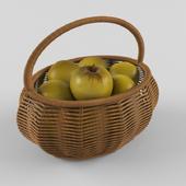a basket full of apples