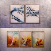The picture in the frame: 13 pieces (the collection of 11) Abstract