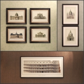The picture in the frame: 12 Pieces (Collection 14) Architecture