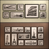 The picture in the frame: 20 pieces - 5 combinations (a collection of 15) Picture Frame