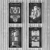 Old Camera Prints Set
